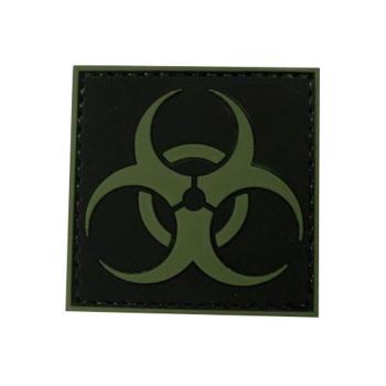 PVC nášivka Biohazard, zelená