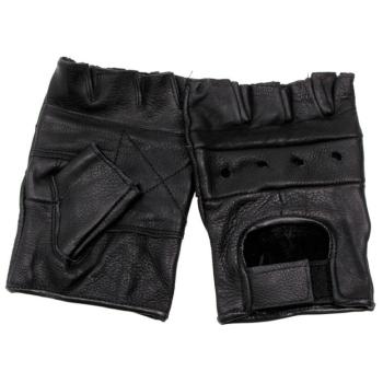 Bezprsté rukavice Biker, kožené, Mil-Tec