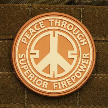 Nášivka JTG Peace Through Superior Firepower