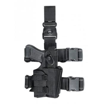 Taktické stehenní pouzdro Dasta MFU, univerzální, se zásobníkem, černé