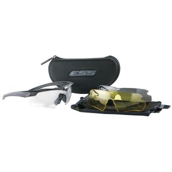 Balistické brýle Crossbow, černý rám, 3 skla, ESS