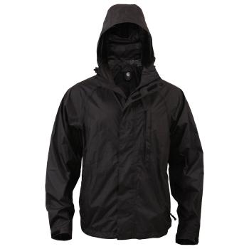 Nepromokavá sbalitelná bunda, černá, Rothco