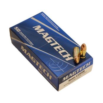 Náboje 9 mm Luger (9x19), FMJ, 8 g, 50 ks, Magtech