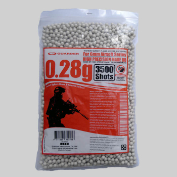 Airsoft kuličky Guarder High Precision 0,28 g, 3500 ks