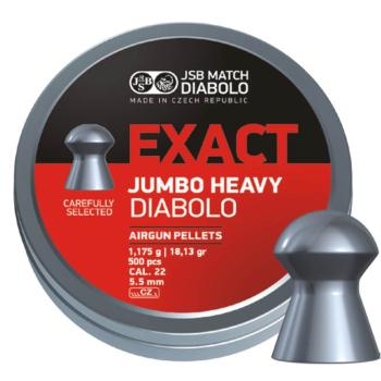 Diabolo JSB Jumbo Exact Heavy, ráže 5,52 mm (.22), 250 ks