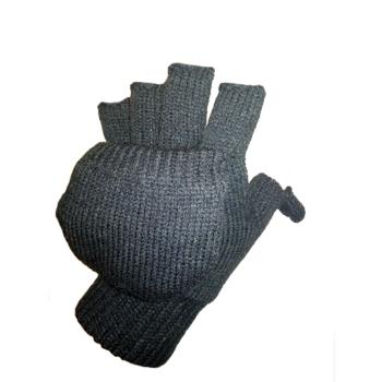 Pletené rukavice s překrytím, černé, Mil-Tec