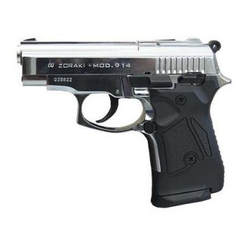 Plynová pistole 9mm Atak 914 Auto, leskle chromovaná