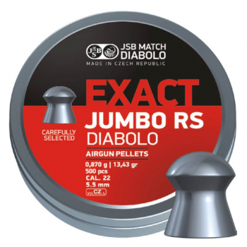 Diabolo JSB Exact Jumbo RS, ráže 5,52 mm (.22), 500 ks
