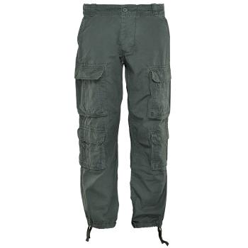 Kalhoty Pack Vintage Industries, bavlna, olivové