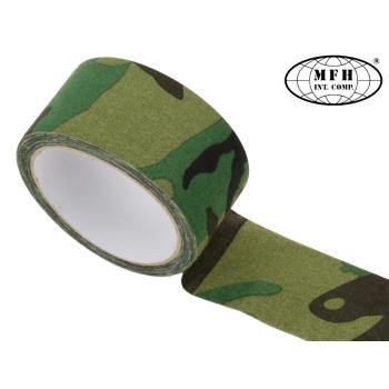 Textilní lepicí páska, MFH, woodland