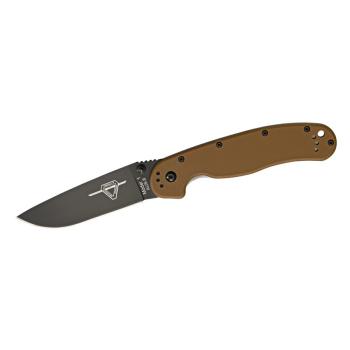 Nůž Ontario RAT 1, hnědé střenky, černěná čepel