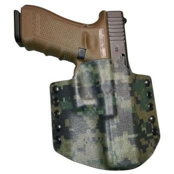Kydexové pouzdro pro Glock 17, pravé, pol. swtg., MarPat/šedá, RH Holsters