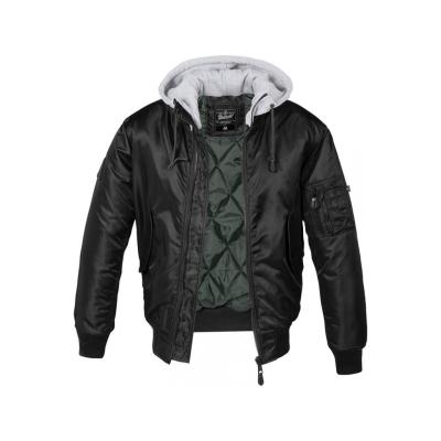 Bunda Brandit MA1 Sweat Hooded, black-grey, XXL