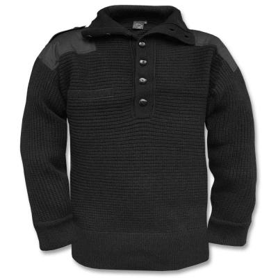 Pánský pletený vlněný svetr Alpin, Mil-Tec, černý, 54