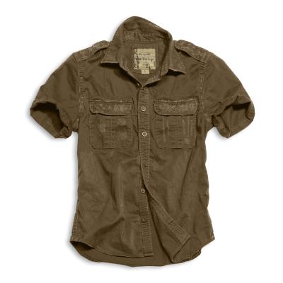 Košile Surplus Raw Vintage, krátké rukávy, hnědá, M