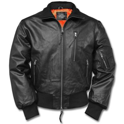 Pilotní kožená bunda BW, černá, 56