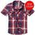 Košile Brandit Roadstar krátký rukáv, červená-modrá-bílá, 2XL