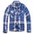 Pánská košile Brandit Check Shirt, modro-bílá, S