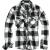Pánská košile Brandit Check Shirt, bílo-černá, M