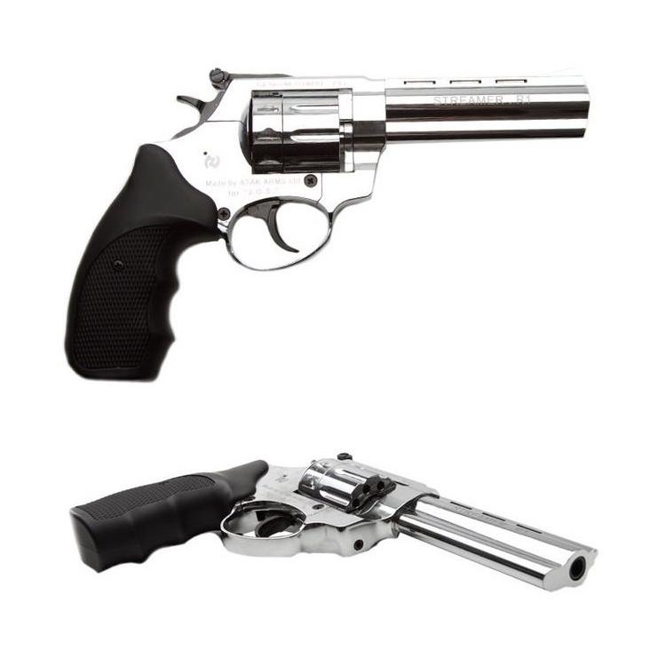 """Flobertkový revolver Zoraki STREAMER 4,5"""" chrom cal: 6mm ME Flobert"""