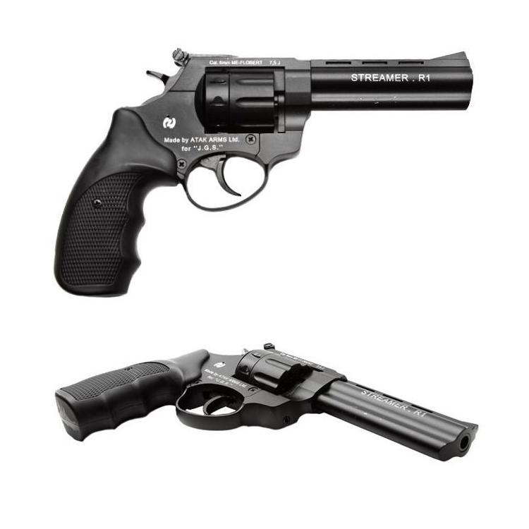 """Flobertkový revolver Zoraki STREAMER 4,5"""" černý cal: 6mm ME Flobert"""