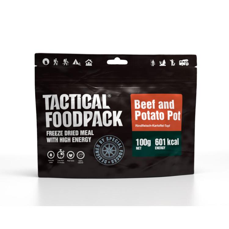 Dehydrované jídlo - hovězí maso s brambory, Tactical Foodpack