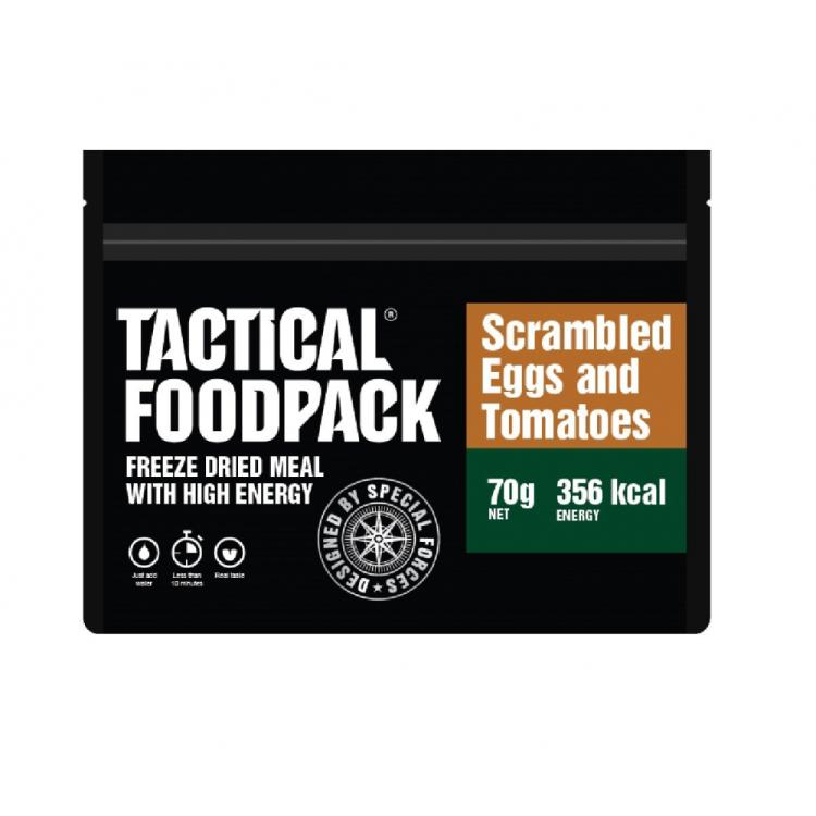 Dehydrované jídlo - míchaná vajíčka s rajčaty, Tactical Foodpack