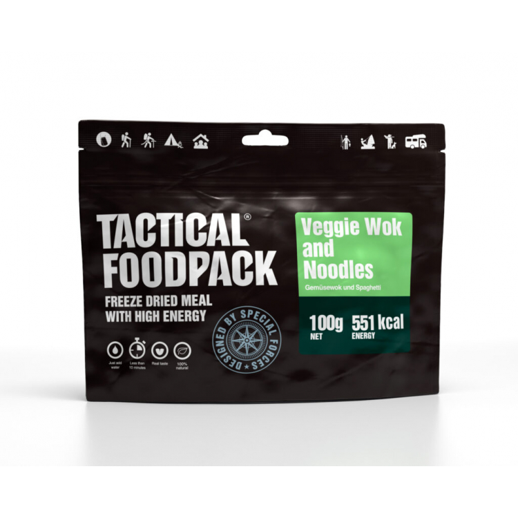 Dehydrované jídlo - zelenina s nudlemi, Tactical Foodpack