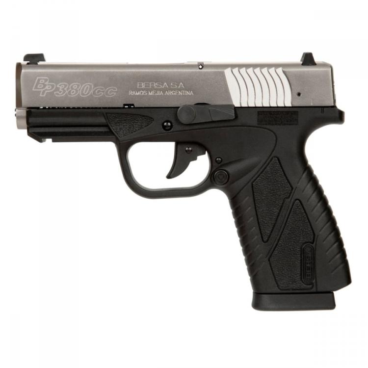 Pistole Bersa BP380CC, ráže 9 mm Br., polymer. rám s railem, duotone