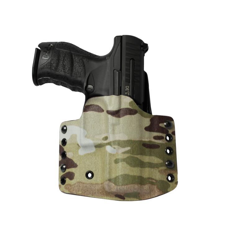 """Kydex pouzdro pro Walther PPQ M2 4"""", pravé, poloviční sweatguard, MultiCam, RH Holsters"""