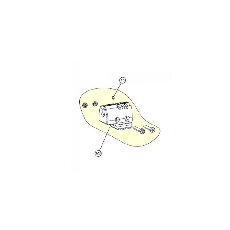 ND W P22 sestava hlavňového závaží