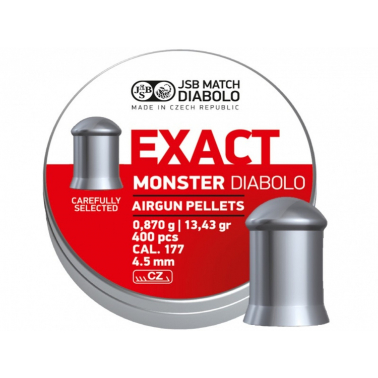 Diabolo JSB Exact Monster 4,52 mm (.177), 400 ks - Diabolo JSB Exact Monster 4,52