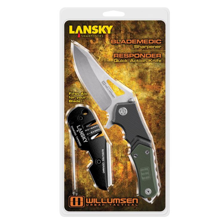 Set nůž Responder + brousek Blademedic, Lansky