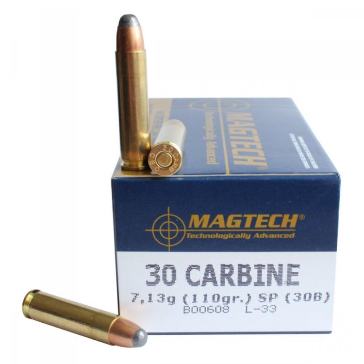 Náboje 30 Carbine SP (30B) 7,13g 110grs, 50 ks
