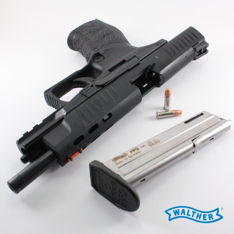 """Pistole Walther PPQ M2, .22 LR, 5"""", černá, zásobník na 12 nábojů"""