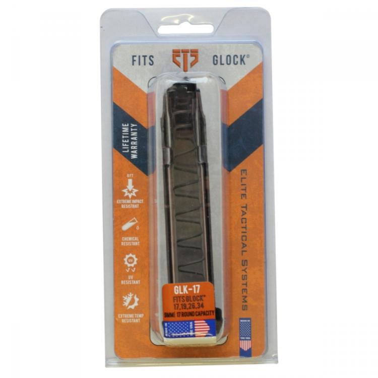 Zásobník ETS pro Glock 17 a menší, 9 mm, 17Nb