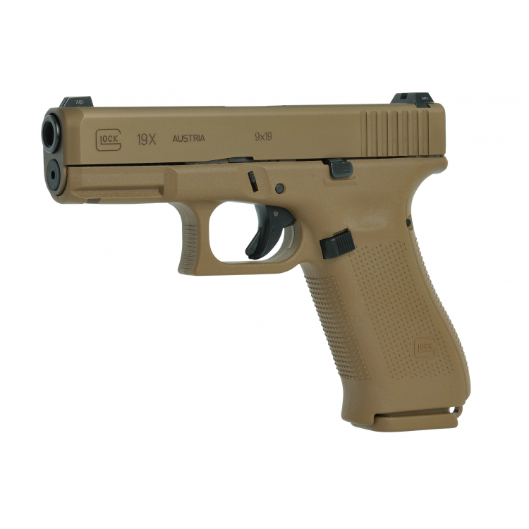 Pistole Glock 19 X, 9 mm Luger, coyote