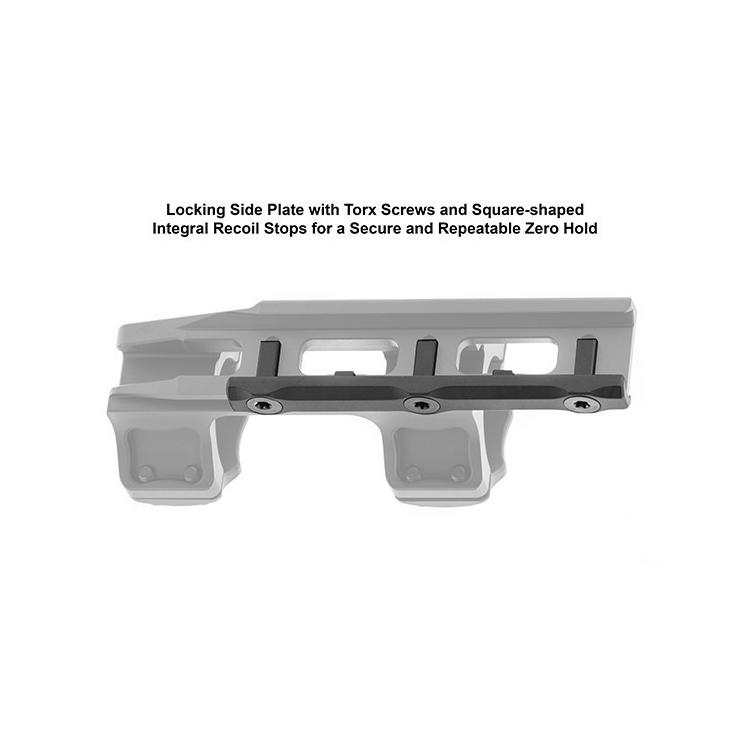 Montáž UTG ACCU-SYNC na puškohled 30 mm, předsunutá 34 mm.