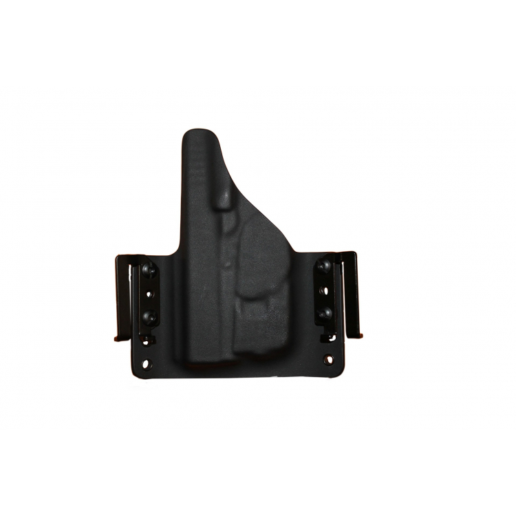 Kydex pouzdro pro Glock 43 + TLR6, pravé, plný swtg.,SpeedLoops 45mm, černé, RH Holsters