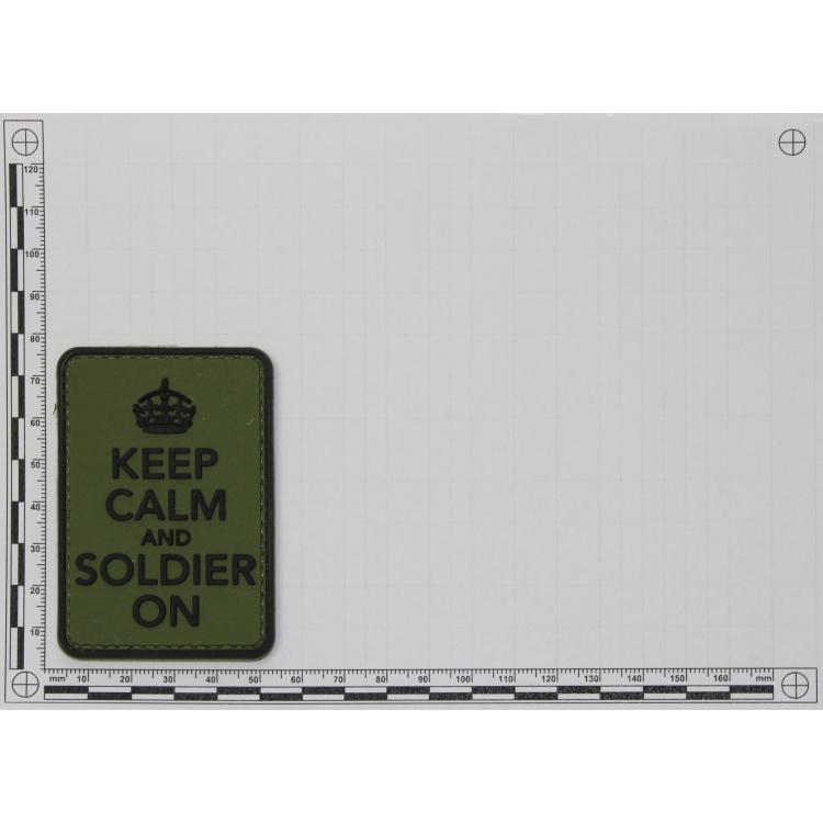 PVC nášivka Keep Calm and Soldier on