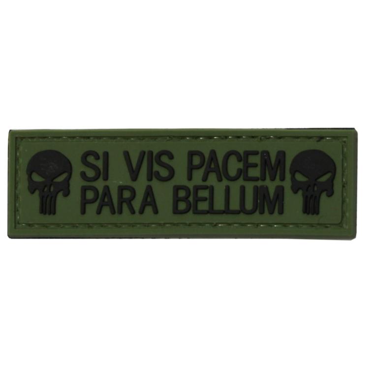 PVC nášivka SI VIS PACEM PARA BELLUM,  punisher