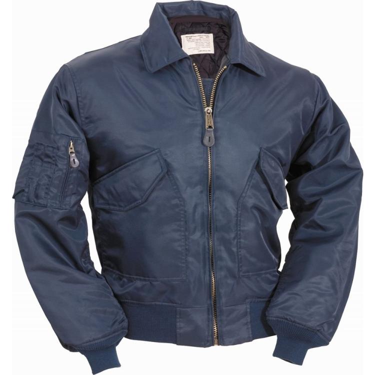 Pilotní bunda CWU Teesar®, tmavě modrá, Mil-Tec