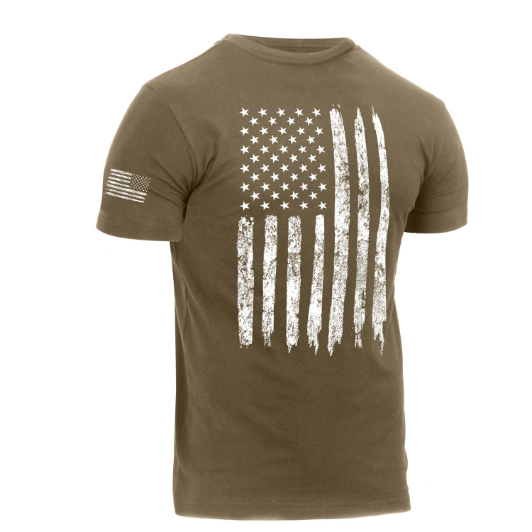 Tričko Distressed US Flag Athletic Fit, Rothco