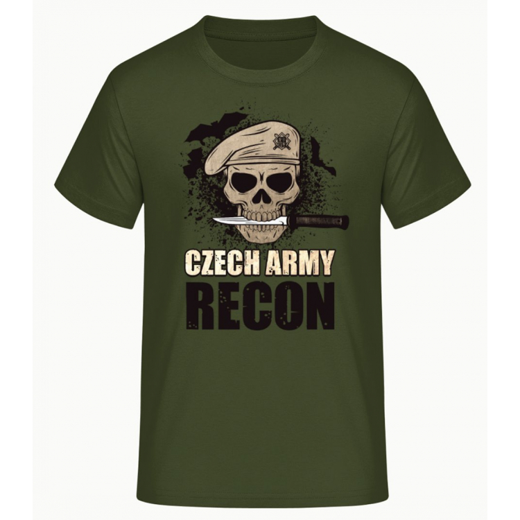Pánské triko Czech Army Recon, zelené, Forces Design
