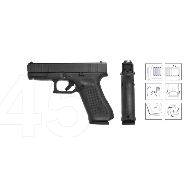 Pistole Glock 45, 9 mm Luger, černá
