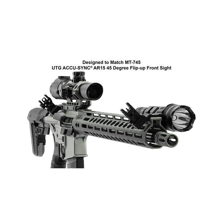 Vyosené hledí UTG AR15 45 Degree angled Rear sight