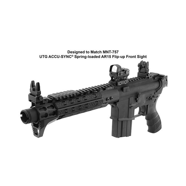 Vyklápěcí hledí UTG AR15 Spring Loaded Flip up rear sight