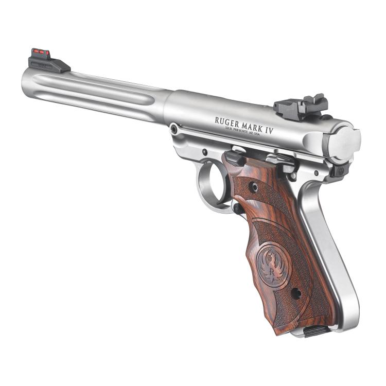 Pistole Ruger MKIV Hunter - Laminate Ergo Grip, .22LR - Pistole Ruger MKIV Hunter - Laminate Ergo Grip, .22LR