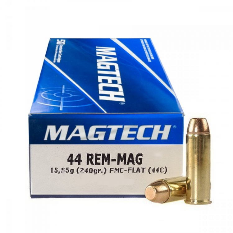 Náboje .44 REM-MAG FMJ FLAT (44C), 15,55 g, 240 gr, 50 ks, Magtech