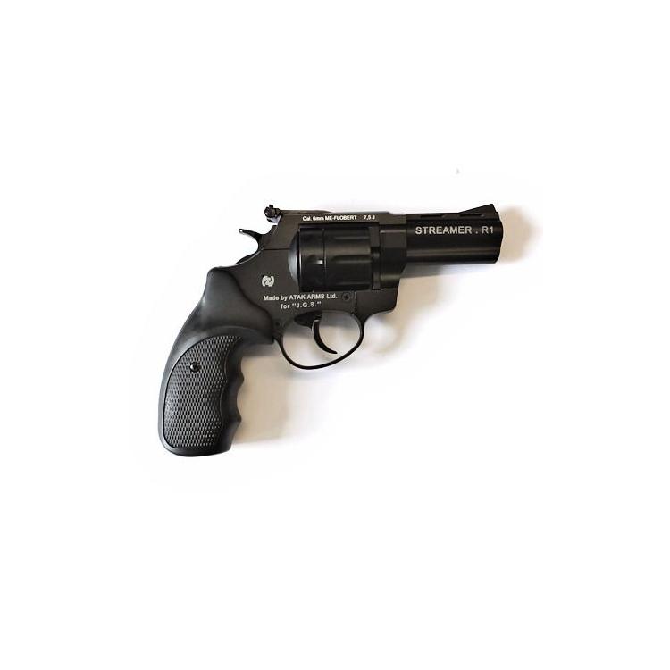 """Flobertkový revolver ZORAKI STREAMER 3"""" černý cal: 6mm ME Flobert"""